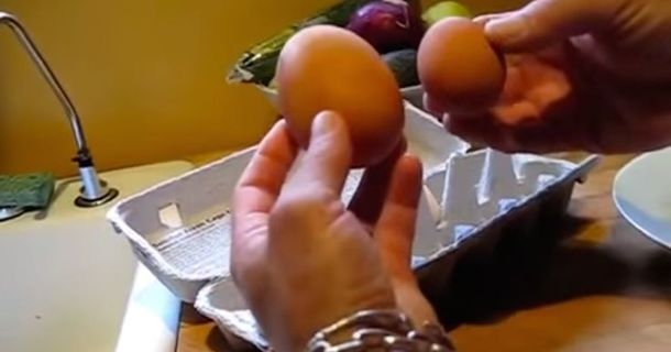 What This Man Found When He Cracked Open This Giant Egg Is Amazing